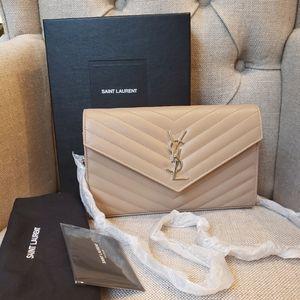 Authentic Brand New Saint Laurent wallet on chain